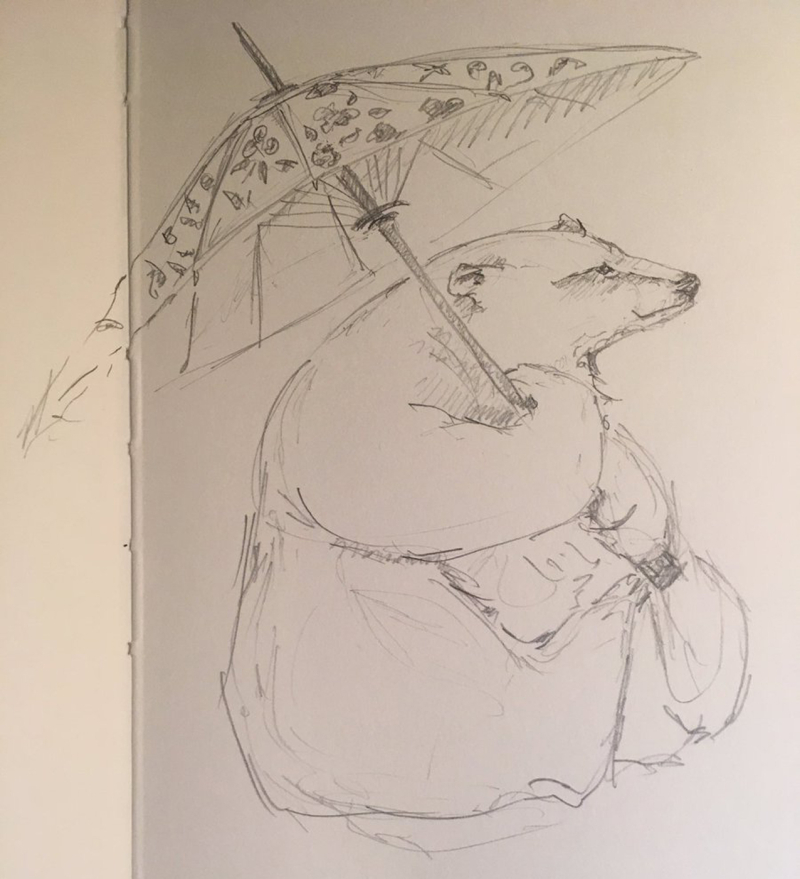 Bear sketch by Jackie Morris