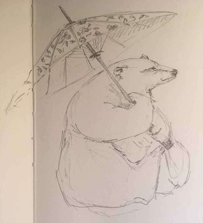 Bear sketch by Jackie Morris