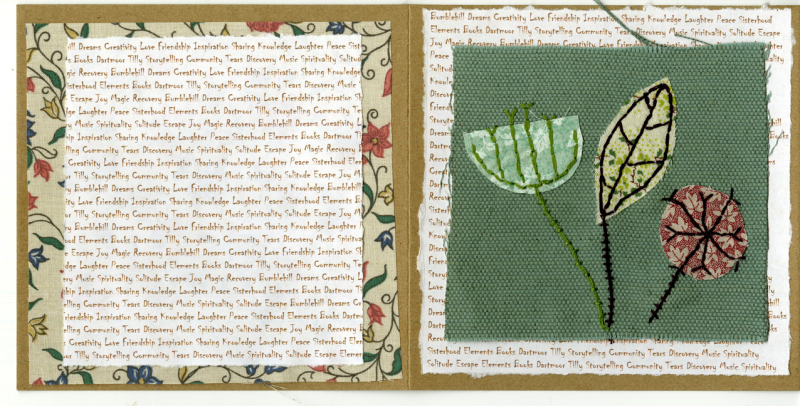 Fabric art card by Michele Campling