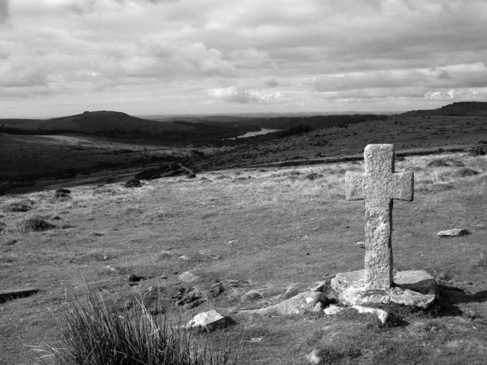 Ancient cross near Crzaywell Pool on Dartmoor