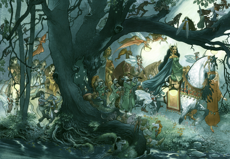 Fairy Procession by Charles Vess