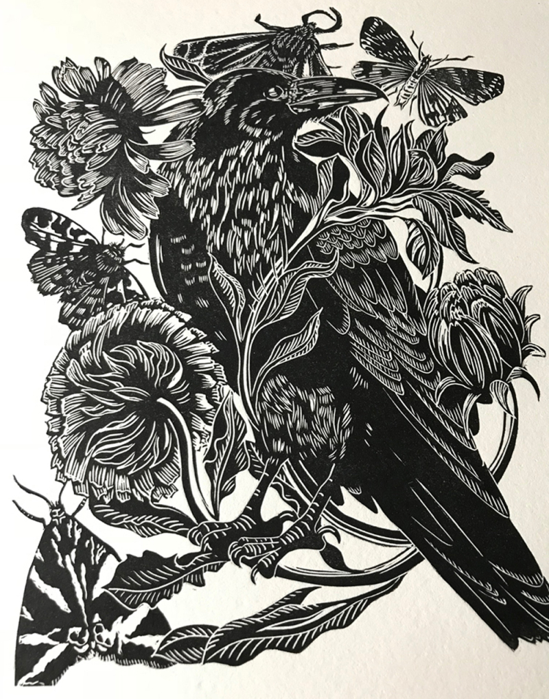 Raven and Calendula by Cally Conway