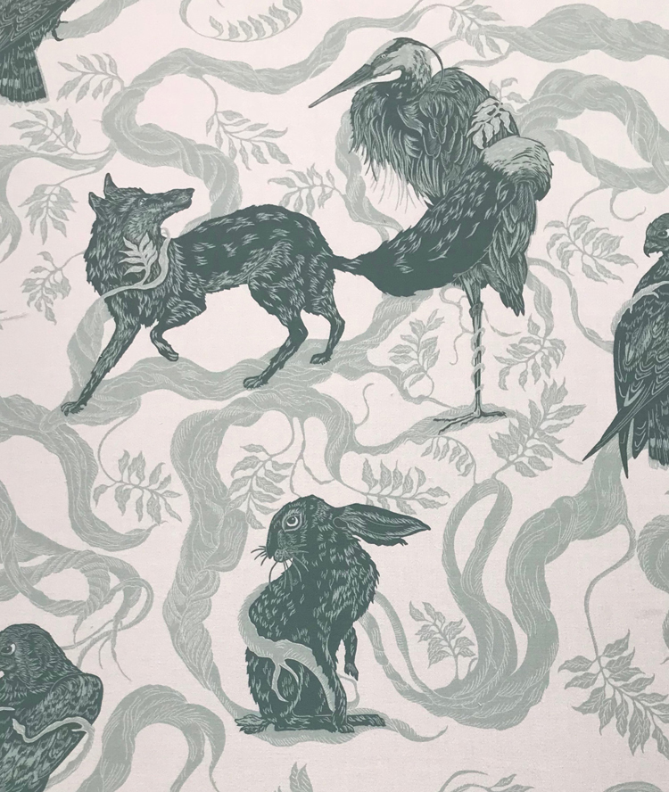 Aesop (fabric design) by Cally Conway