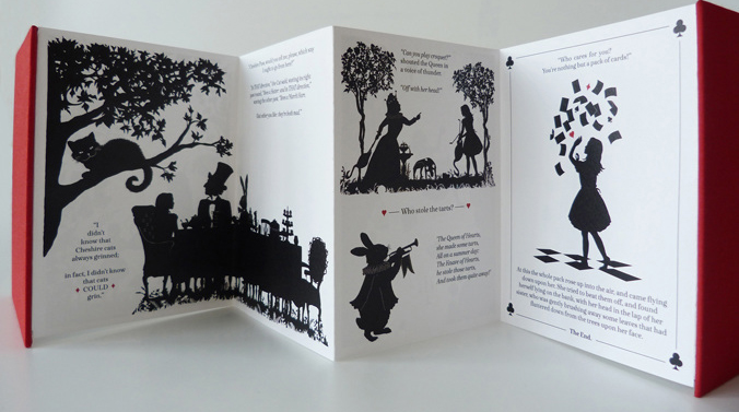 Alice in Wonderland (a limited edition concertina book) by Laura Barrett