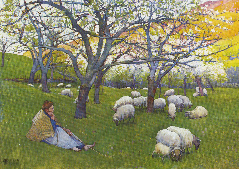 Shepherdess of the Pyrenees by Elizabeth Forbes
