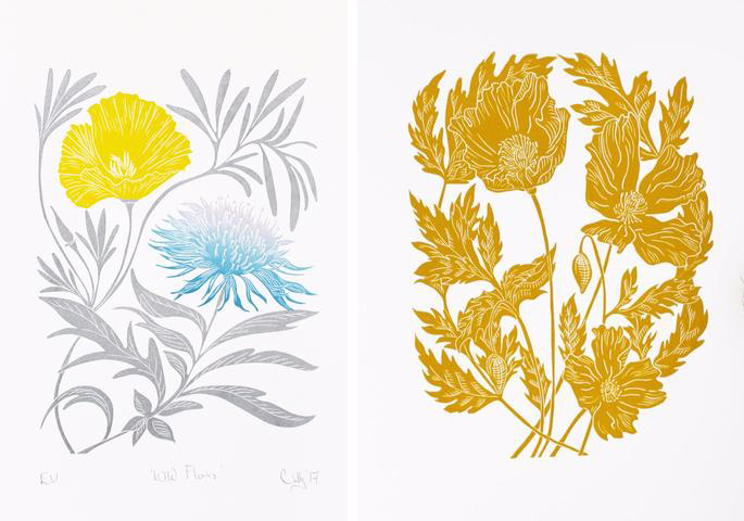 Wild Flowers and Welsh Poppies by Cally Conway