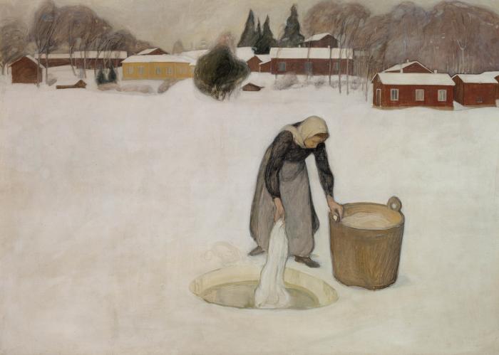 Washing on the Ice by Pekka Halonen