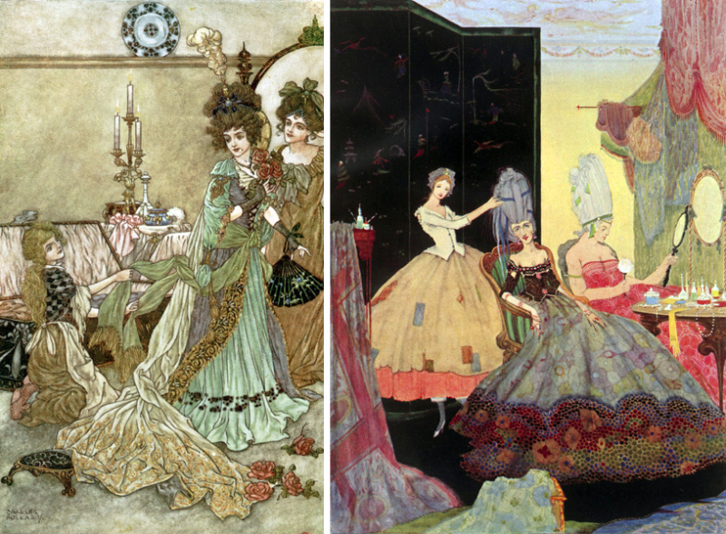 Cinderella's Stepsisters by Charles Folkard and Harry Clarke