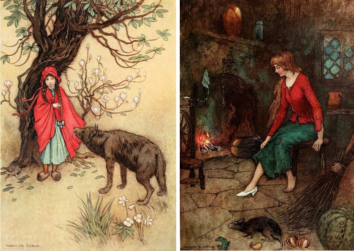 Red Riding Hood and Cinderella by Warwick Goble