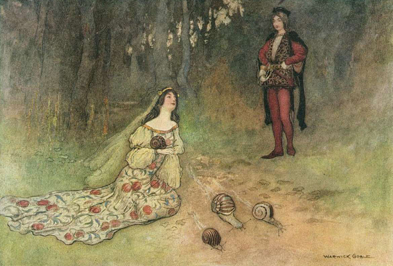 The Prince and Filadoro with the Snails