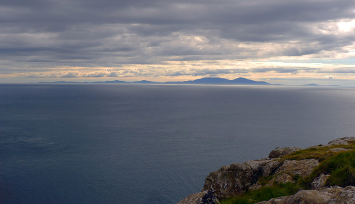 Looking west from Skye to the Outer Hebrides