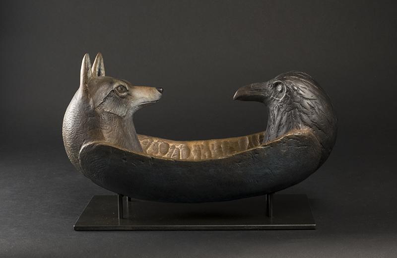 Trickster Spirit Canoe (Coyote & Raven)