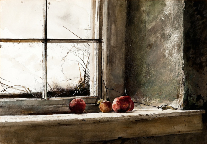 Apples on the Windowsill by Andew Wyeth