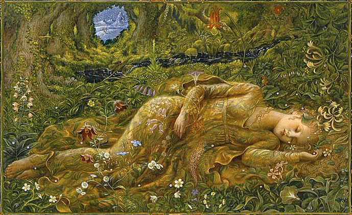 Lady in the Meadow by Kinuko Y. Craft