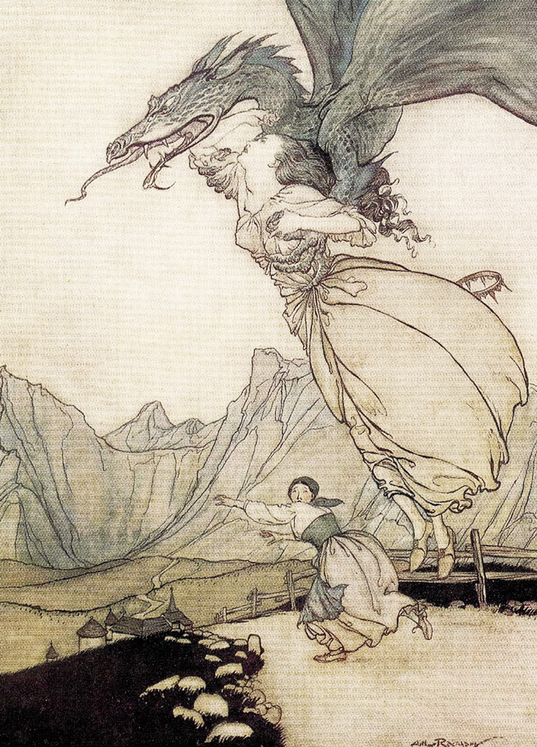 Dragon by Arthur Rackham