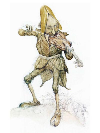 Fairy fiddler by Alan Lee