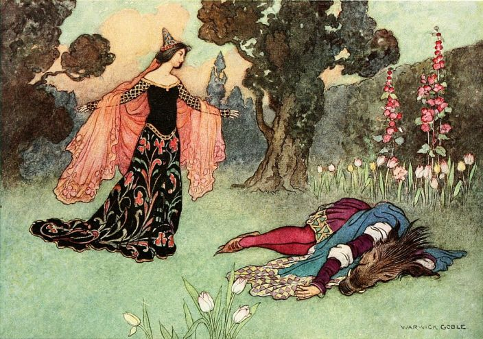 Beauty and the Beast by Warwick Goble