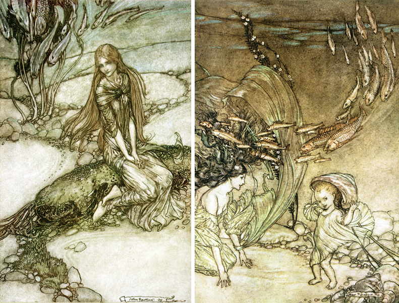 Undine illustrations by Arthur Rackham