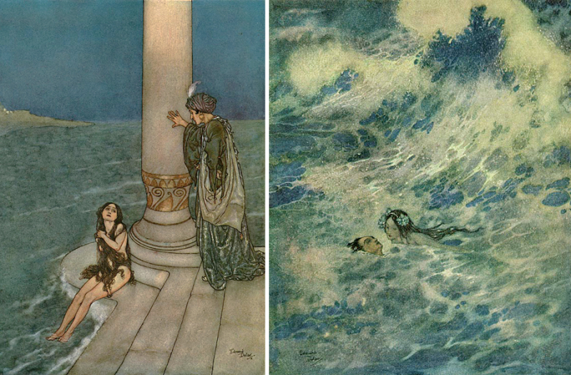 Illustrations for The Little Mermaid by Edmund Dulac