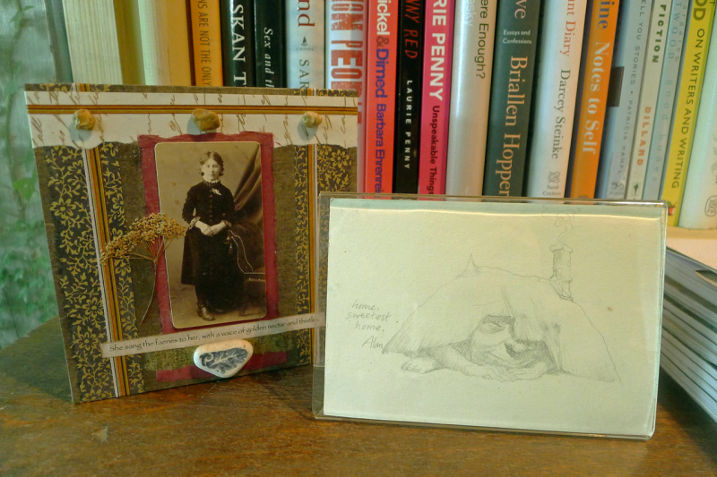 Collage by Lynn Hardacker and pencil drawing by Alan Lee