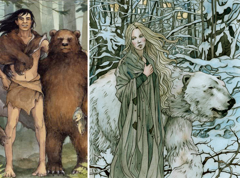 Bearskin by Trina Schart Hyman and East of the Sun, West of the Moon by Liga Klavina