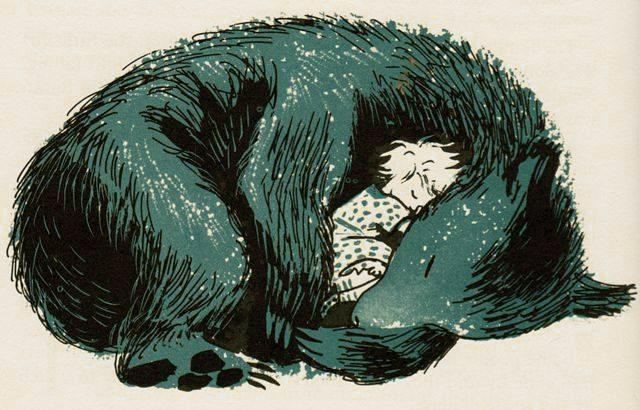 Sleeping bear by Marc Simont