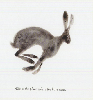 Running hare by Catherine Hyde