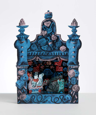Hansel & Gretel toy theatre by Clive Hicks-Jenkins