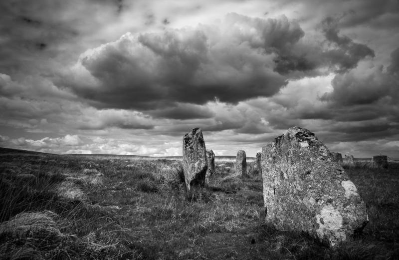 Grey Wethers Stone Circle on Dartmoor by Simon Blackbourn