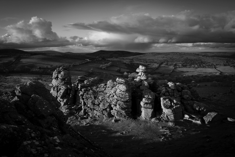Sunset at Hound Tor by Simon Blackbourn