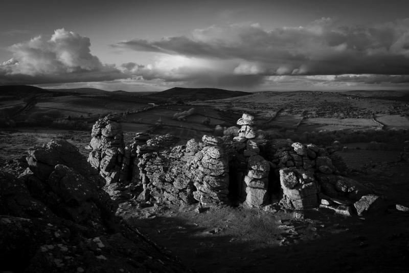 Sunset at Hound Tor by Simon Blackbourn