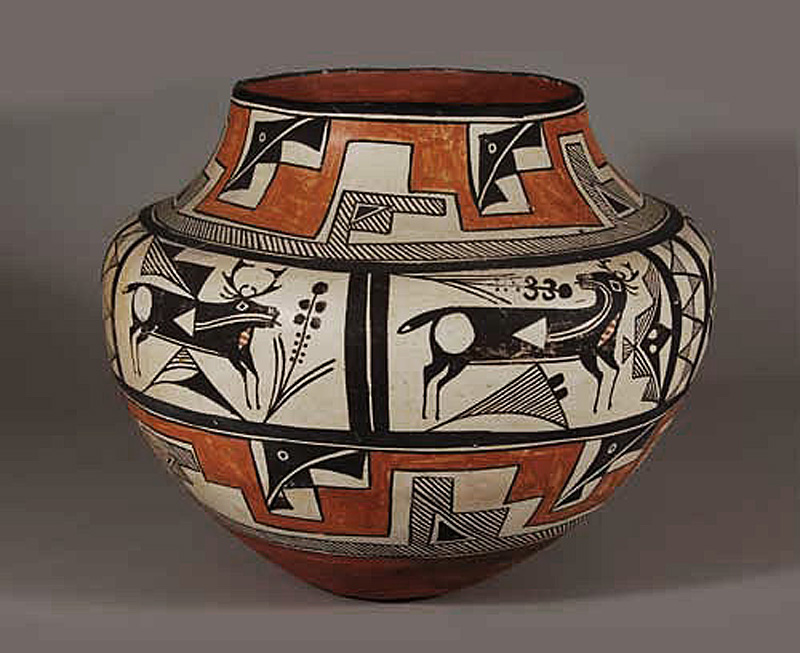 Ative American olla from Acoma Pueblo New Mexico.