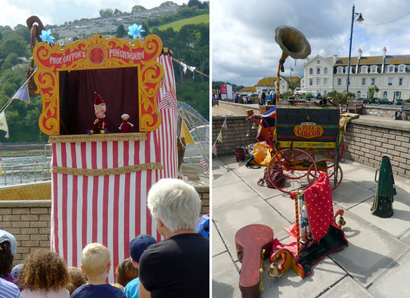 Punch & the Baby, and the Flea Circus