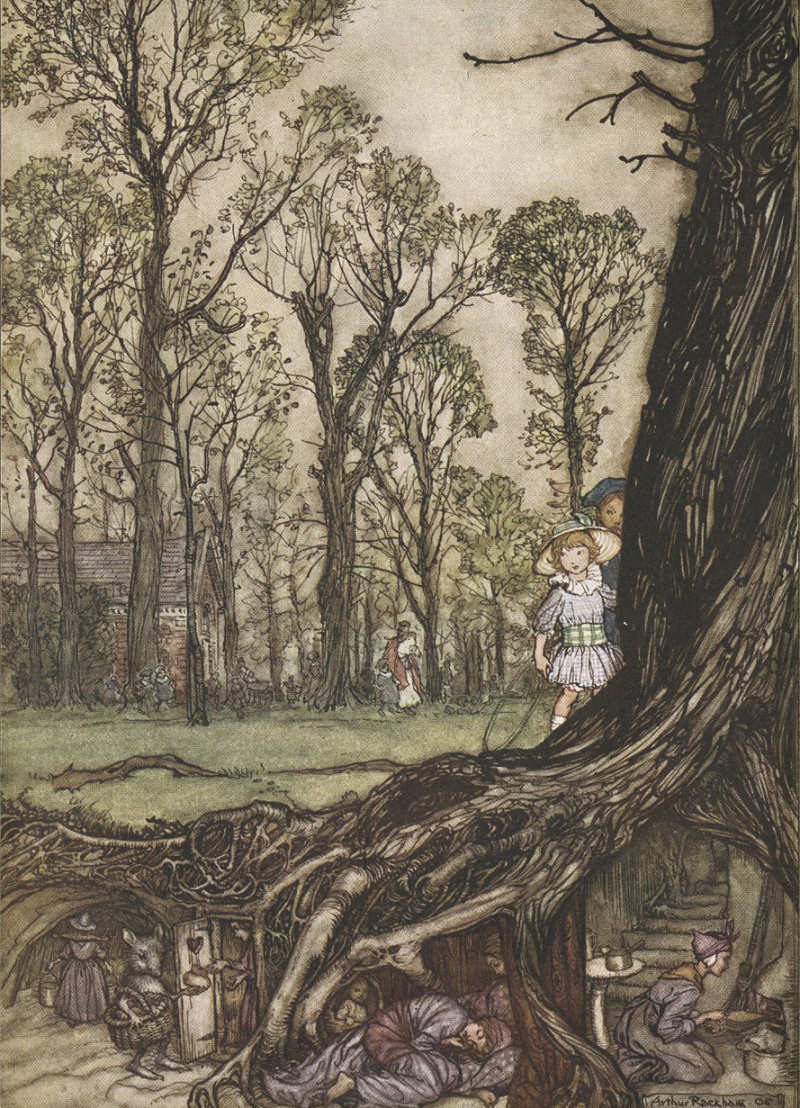 The fairies under Kensington Gardens by Arthur Rackham