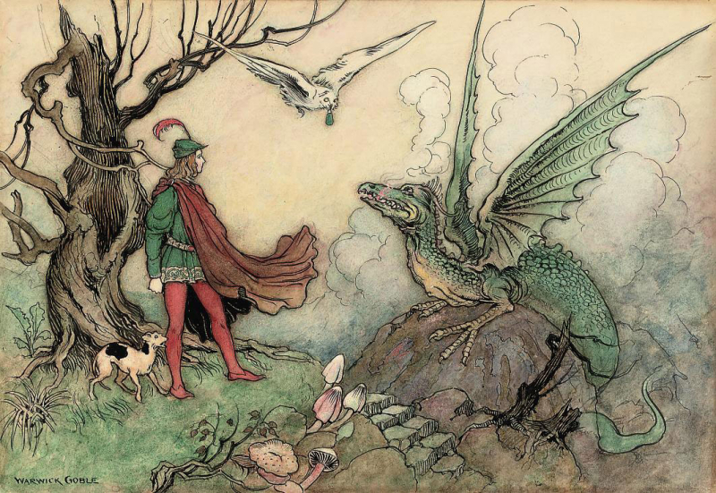 The Knight and the Dragon by Warwick Goble