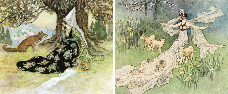Grannoia & the Fox and The Fairy Book by Warwick Goble