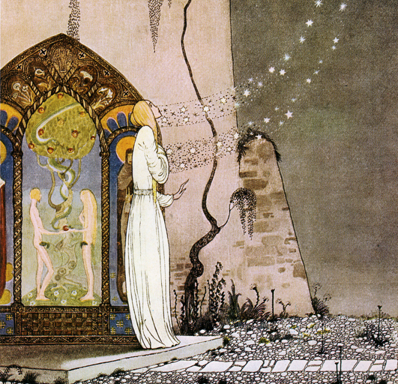 Pop! Out flew the moon by Kay Nielsen