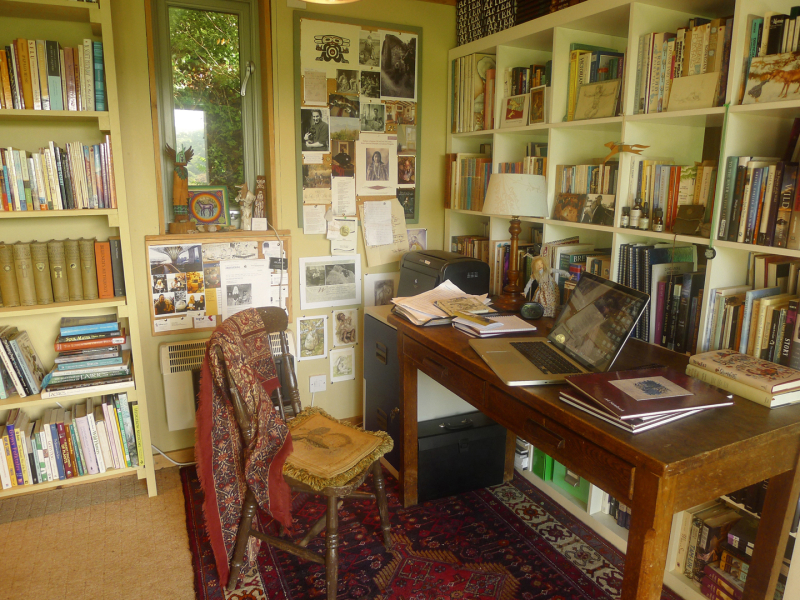 Writing desk at the Bumblehill Studio