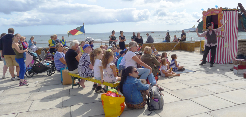 Punch & Judy, Teignmouth beach