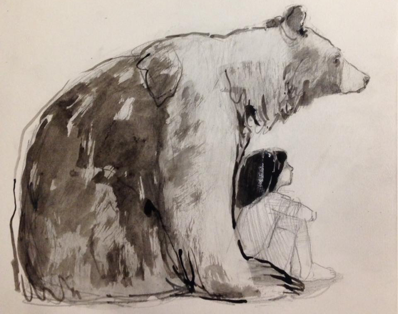 Bear With Boy by Lucy Cambell