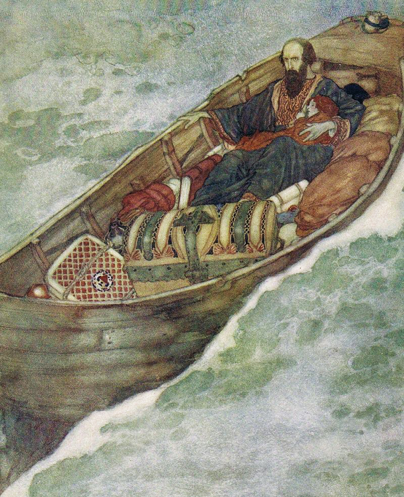 Prospero and Miranda by Edmund Dulac