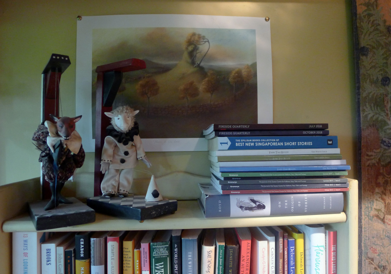Puppets by Wendy Froud and print by Virginia Lee