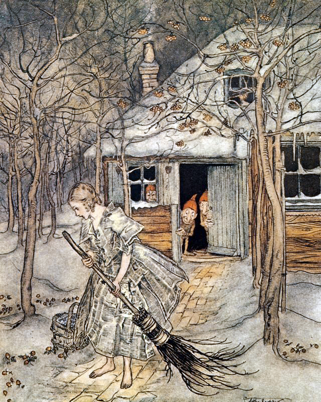Strawberries in the Snow by Arthur Rackham