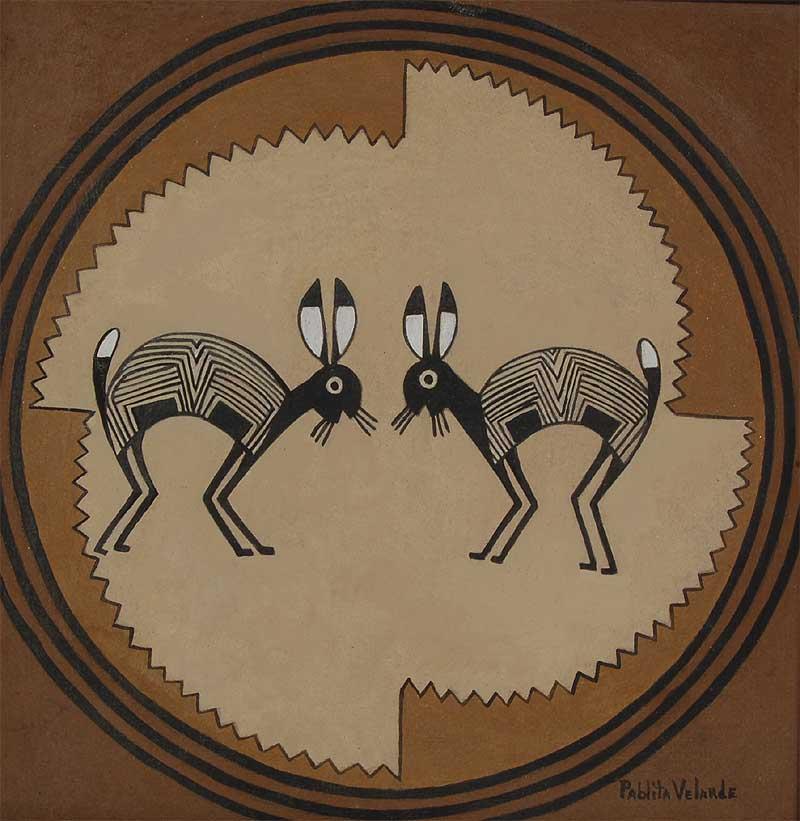 Mimbres Rabbits by Pablita Velarde  Santa Clara Pueblo