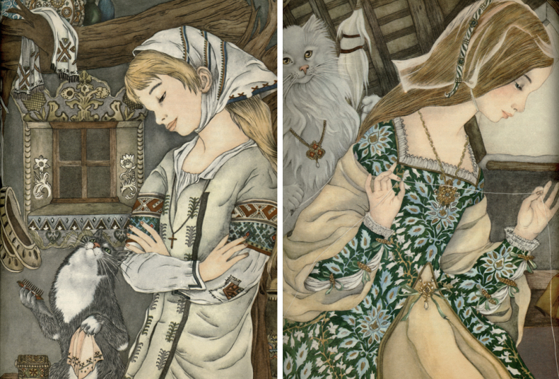 Two illustrations by Adrienne Segur
