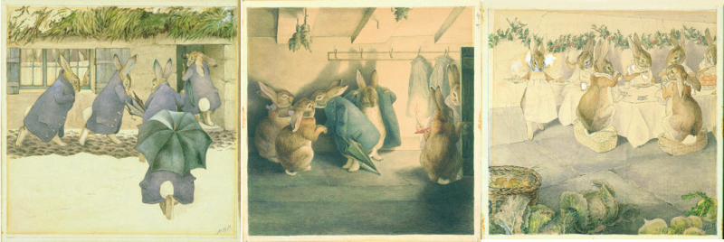 The Robbit's Christmas Party by Beatrix Potter