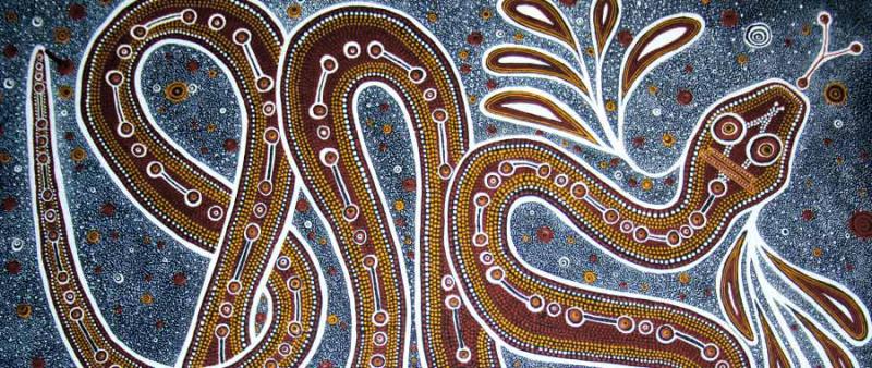 The Rainbow Serpent  a design from Aboriginal rock art
