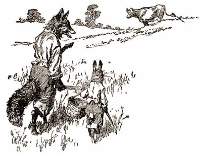 Brer Fox and Brer Rabbit by AB Frost