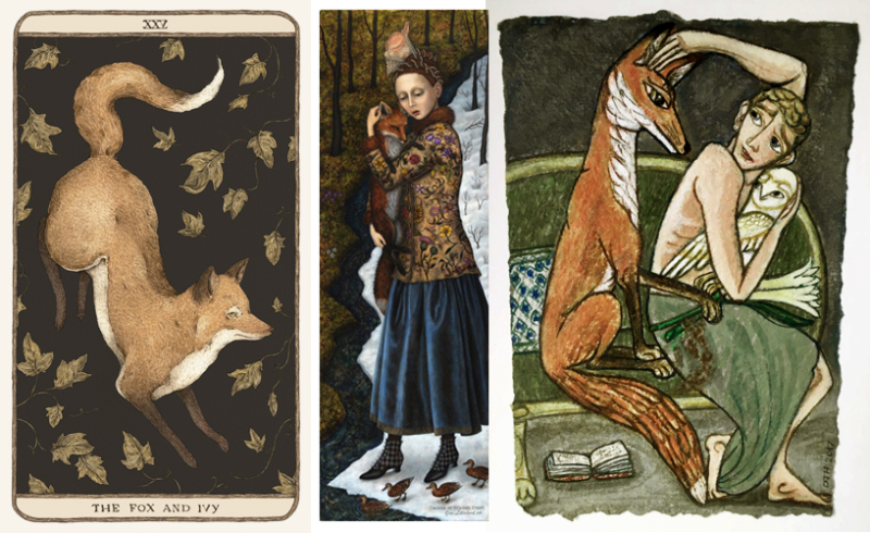 Fox art by Jessica Roux, Gina Litherland, and David Hollington
