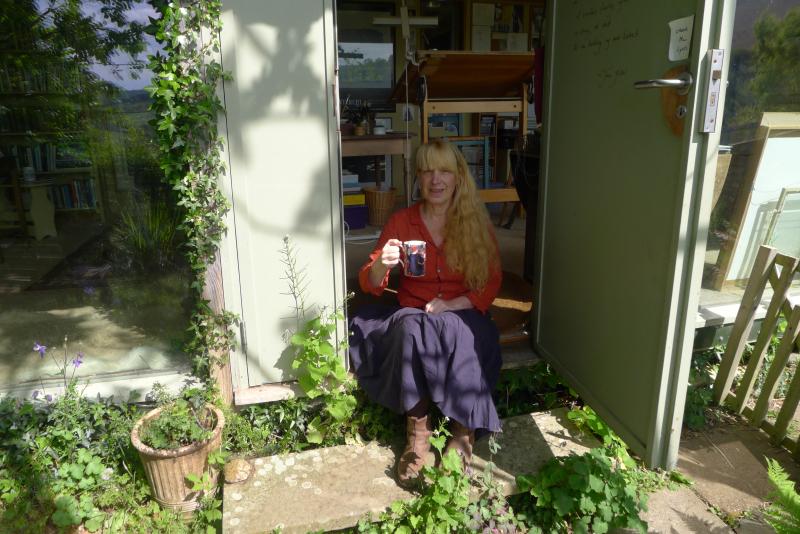 Terri Windling at the Bumblehill Studio, by Howard Gayton